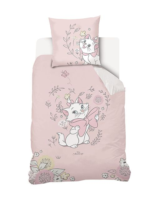 Juego de cama individual reversible 'Disney'                             rosa