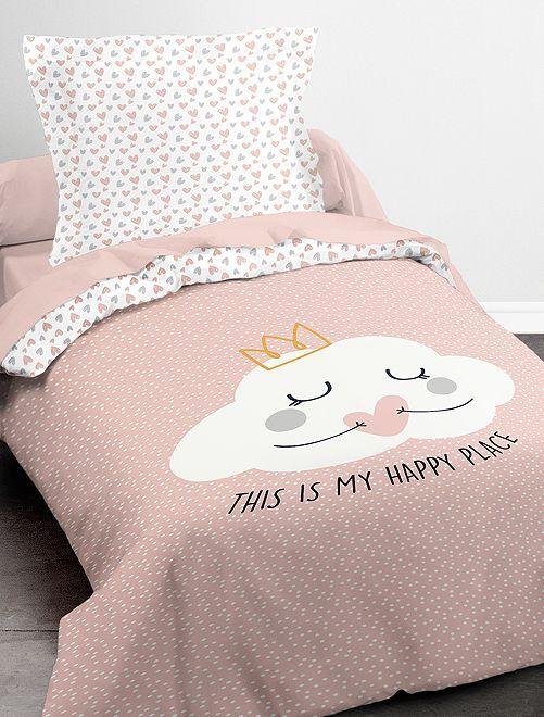 Juego de cama individual                             ROSA