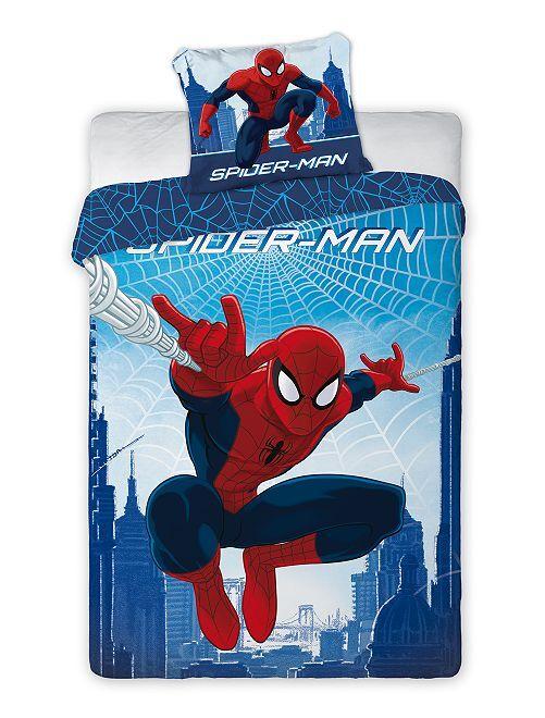 Juego de cama individual 'Spider-Man'                             azul/rojo
