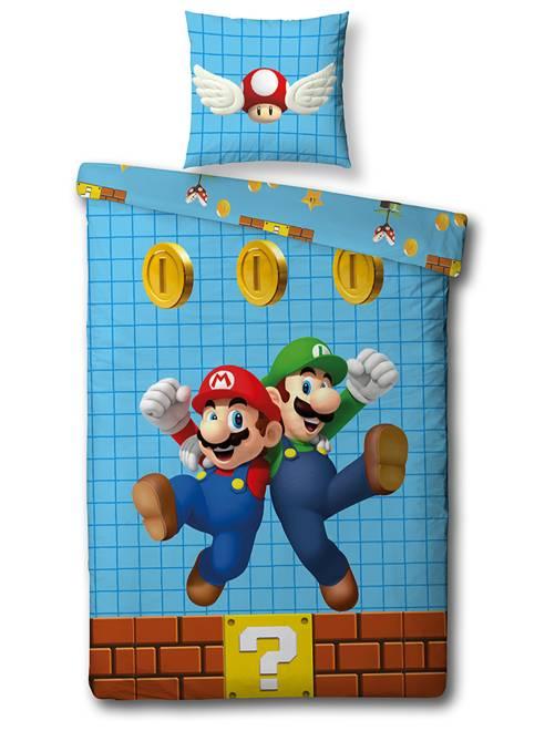 Juego de cama individual 'Super Mario'                             azul Hogar