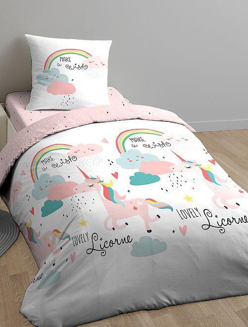 Juego de cama individual 'Wish'                             blanco/rosa Hogar