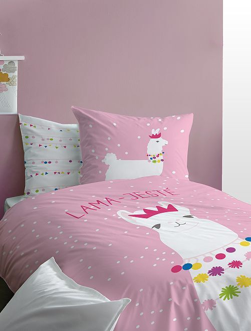 Juego de cama 'llama'                             rosa Hogar