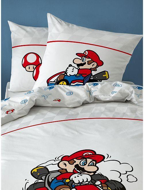 Juego de cama 'Mario Kart'                             blanco