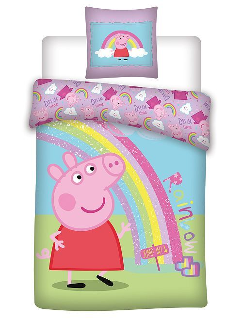 Juego de cama microfibra 'Peppa pig'                             AZUL
