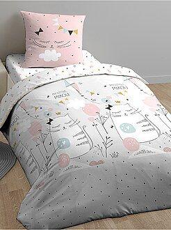 Ropa de cama infantil - Juego de cama 'My Little Miaou' - Kiabi