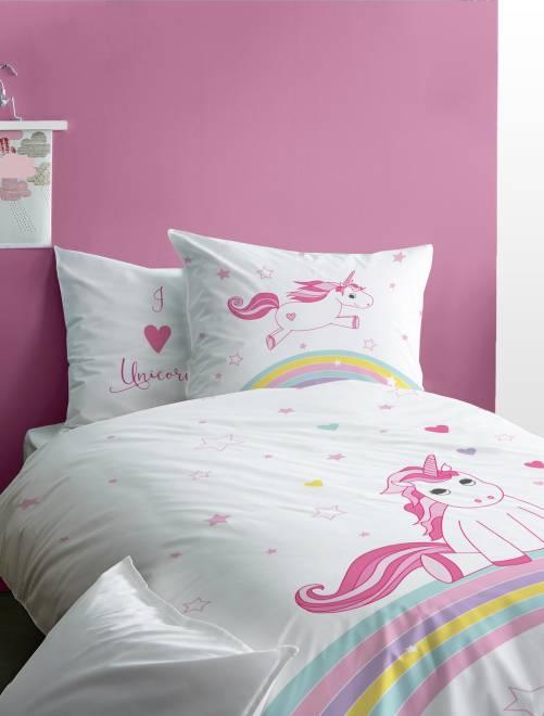 Juego de cama reversible de 'unicornio'                             blanco