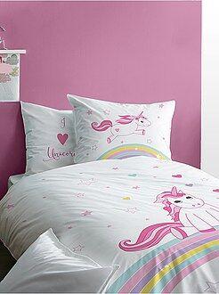 Hogar - Juego de cama reversible de 'unicornio' - Kiabi