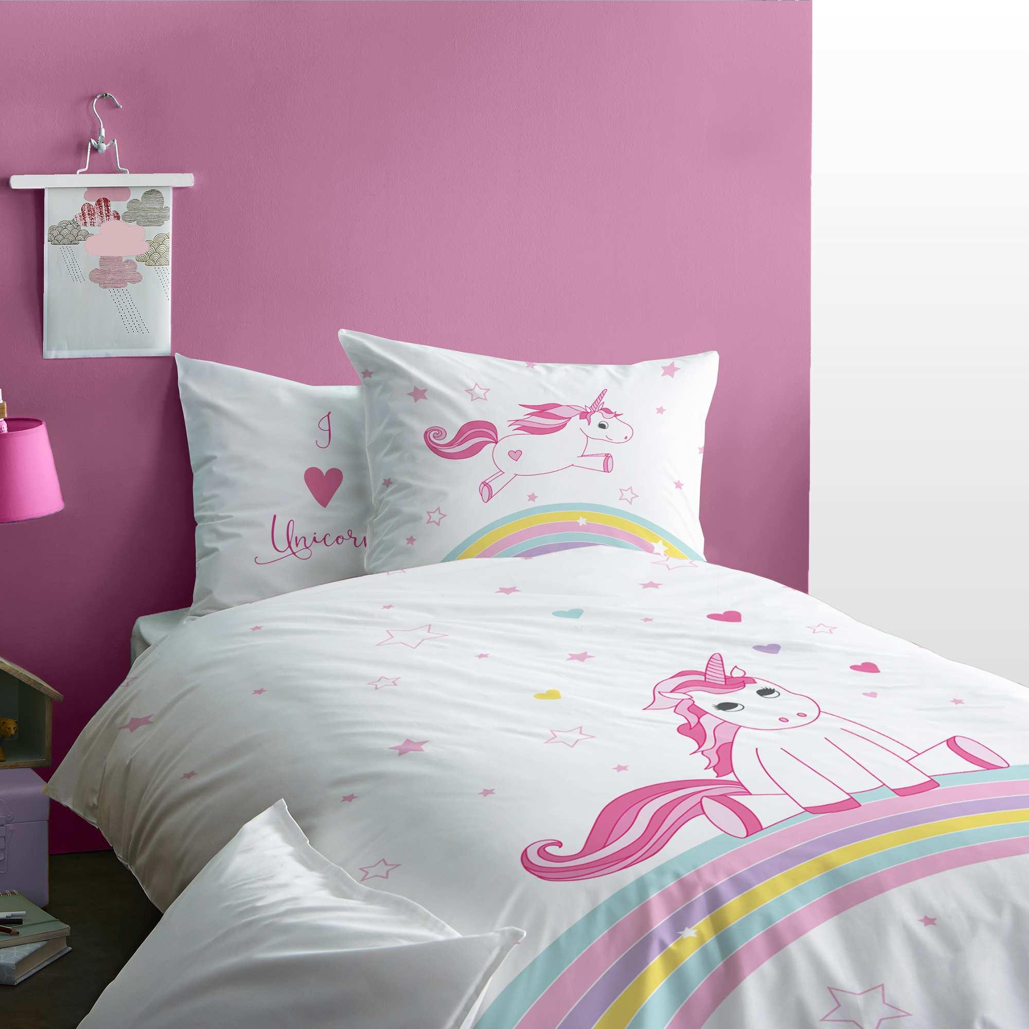 juego de cama reversible de 39 unicornio 39 hogar blanco. Black Bedroom Furniture Sets. Home Design Ideas