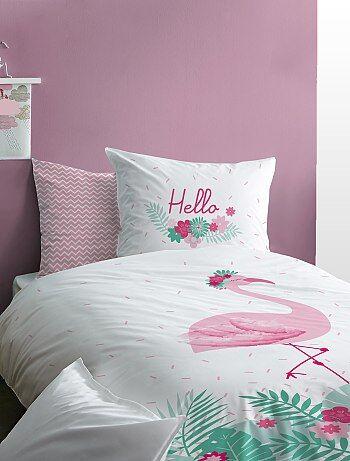 Juego de cama reversible 'flamenco rosa' - Kiabi