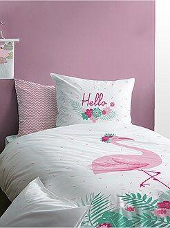 Ropa de cama infantil - Juego de cama reversible 'flamenco rosa' - Kiabi