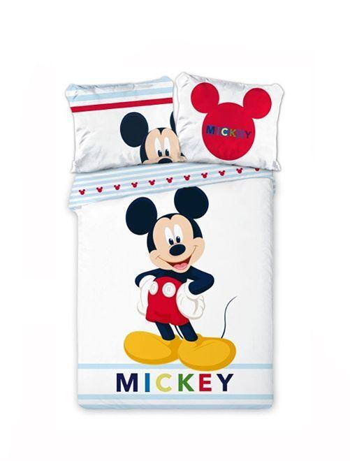 Juego de cama reversible 'Mickey' 'Disney'                             blanco