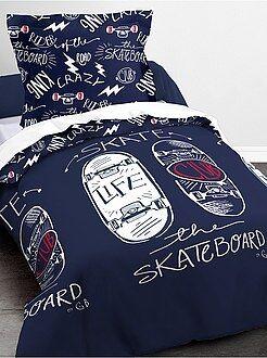 Ropa de cama infantil - Juego de cama 'Skateboard' - Kiabi