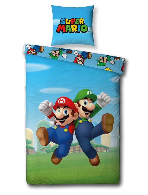 Juego de cama 'Super Mario'                             azul Hogar