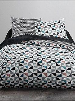 Ropa de cama adulto - Juego de cama 'triángulos' - Kiabi