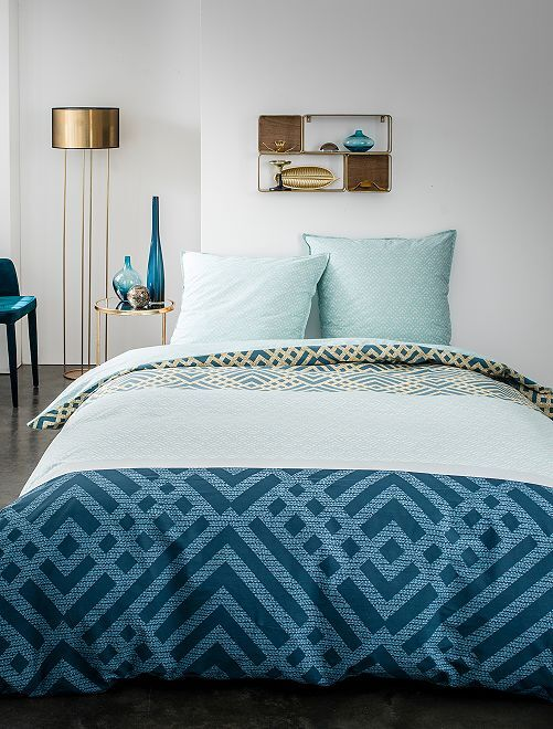 Juego de cama tricolor                             azul