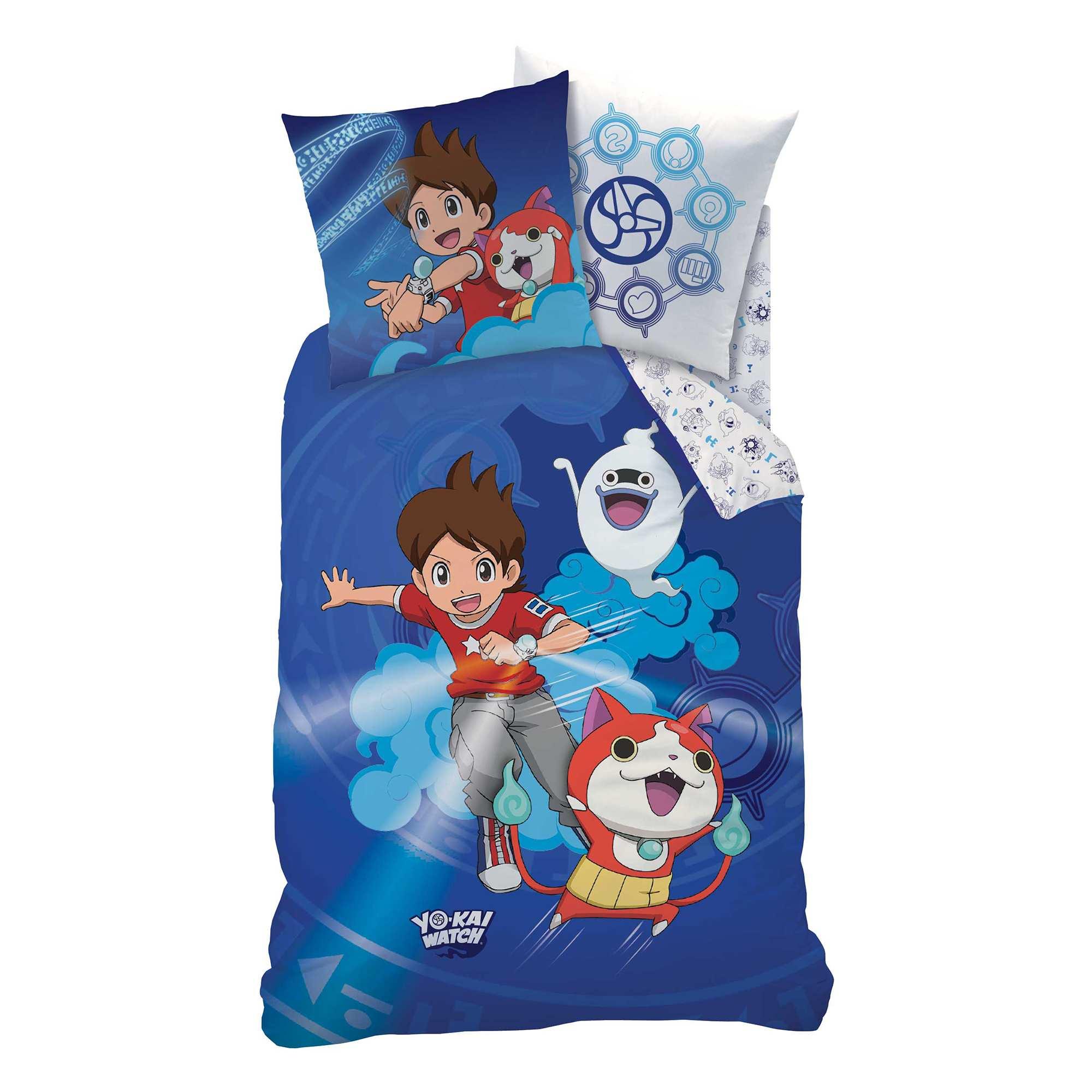 Juego de cama 39 yo kai watch 39 hogar azul kiabi 35 00 for Chambre yo kai watch
