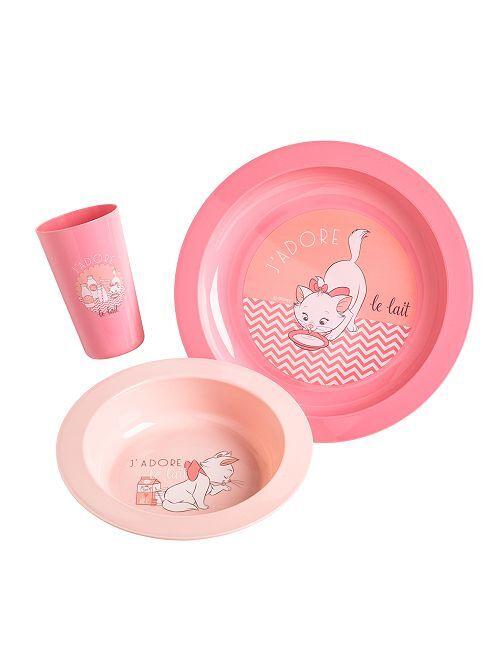 Juego de comida de 3 piezas 'Disney'                                                     rosa