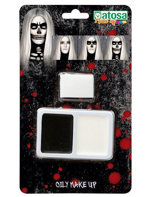 Kit de maquillaje 'esqueleto'                             negro/blanco