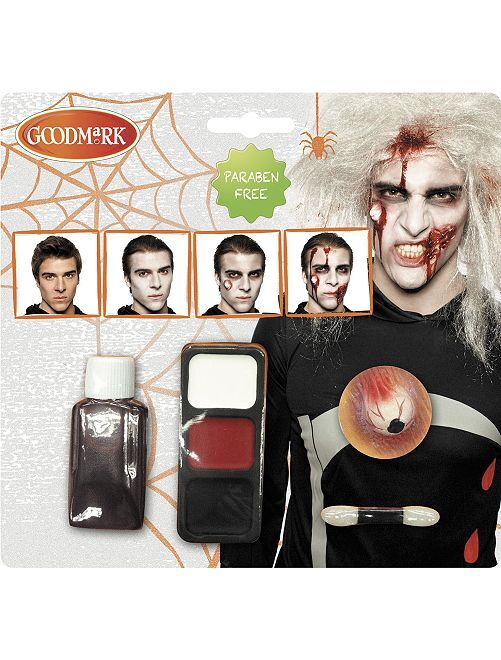 Kit de maquillaje zombi                             BLANCO