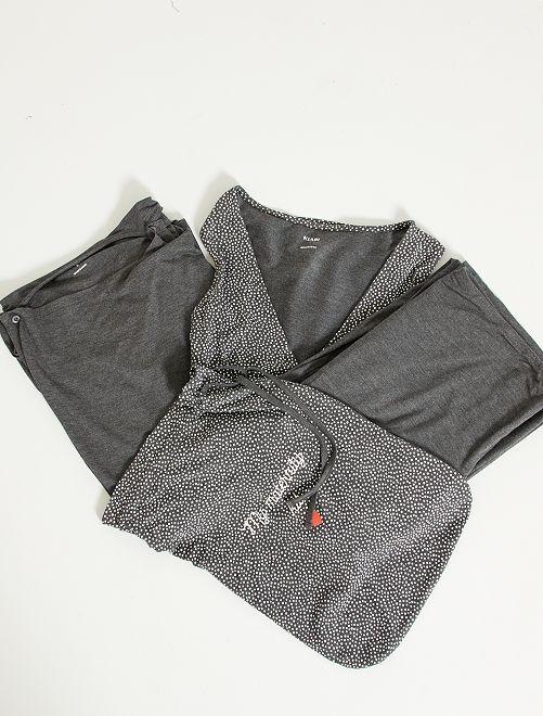 Kit premamá camiseta + chaleco + pantalón                                                                 GRIS
