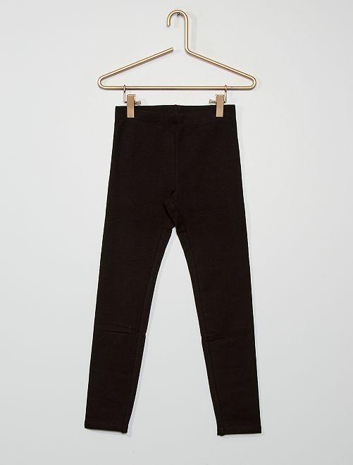 Legging confeccionado principalmente en algodón                                                                             negro