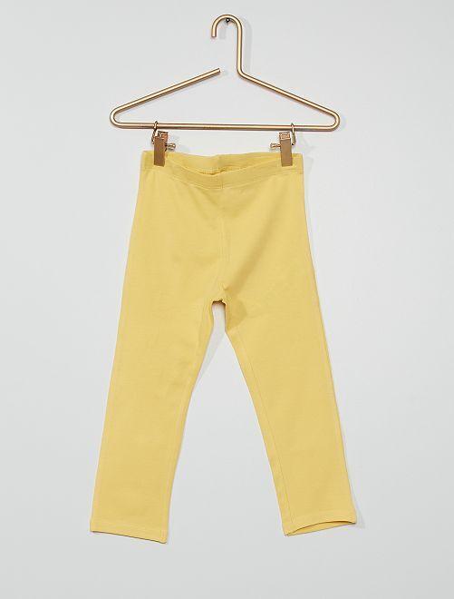 Legging corto                                                                                                                 amarillo suave