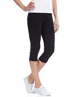 Legging corto con cintura elástica
