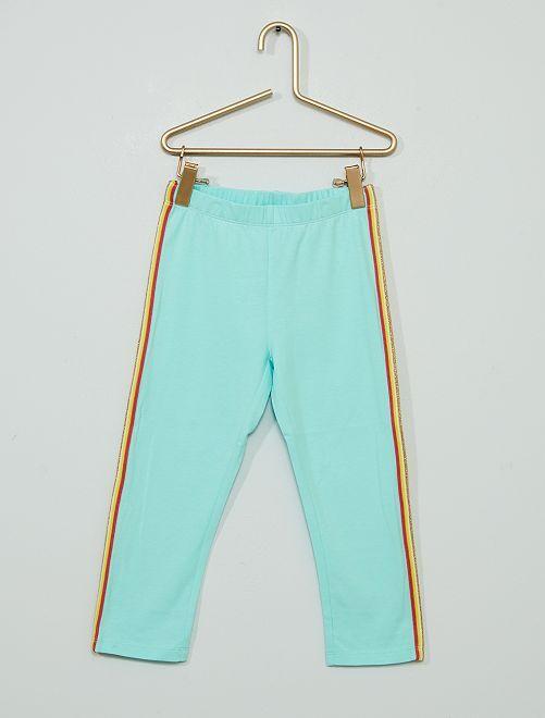 Legging corto confeccionado principalmente en algodón                                                                                         ROSA