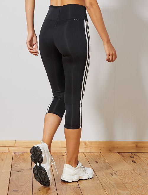 c0cac3ffc Legging corto deportivo 'Adidas' Mujer talla 34 a 48 - NEGRO - Kiabi ...