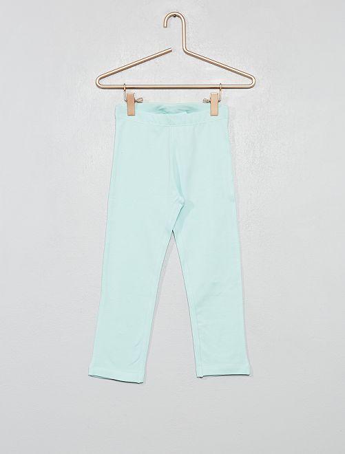 Legging corto elástico                                 azul claro Chica