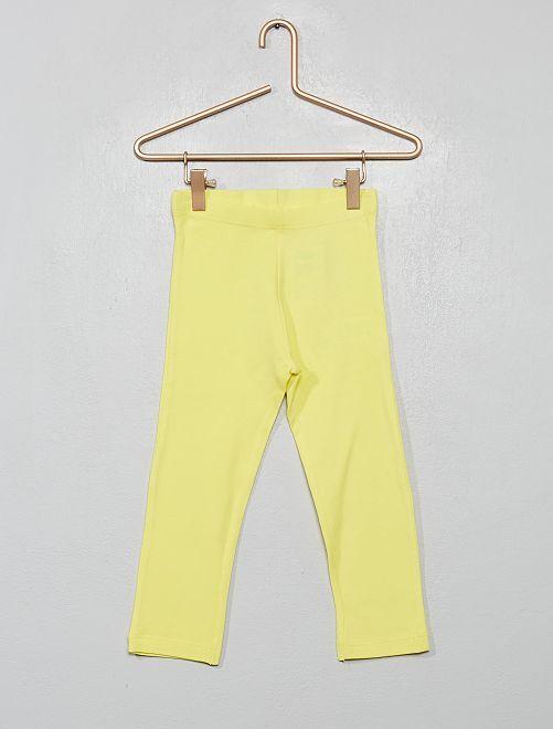 Legging corto liso                                                                                                                 amarillo