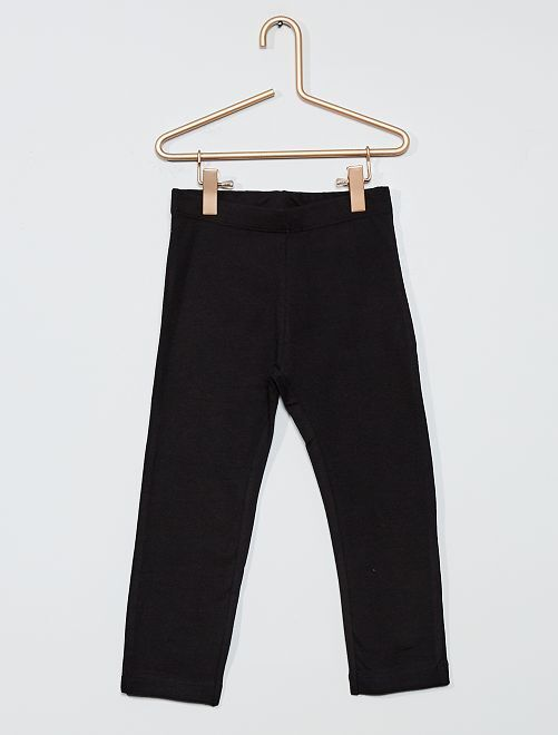 Legging corto liso                                 negro