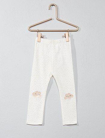 Legging de algodón con estampado de lunares - Kiabi