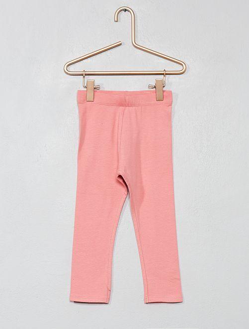 Legging de punto elástico                                                                                                     rosa Bebé niña