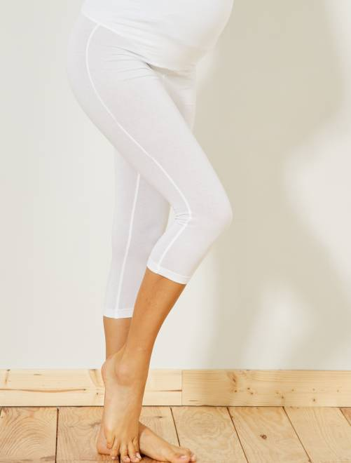 Legging de punto extensible                                         blanco brillante