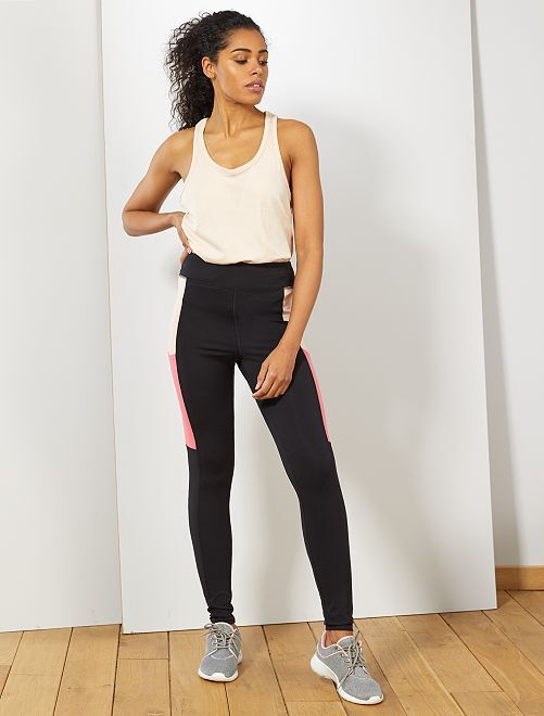 Legging deportivo con bolsillos laterales                                         negro