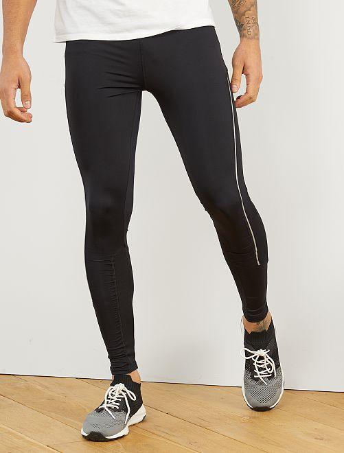 Legging deportivo de microfibra                             negro