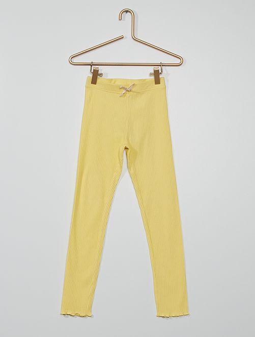 Legging eco-concepción                                             amarillo suave
