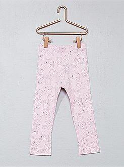 Pantalones, vaqueros, calzoncillos - Legging estampado de algodón elástico - Kiabi