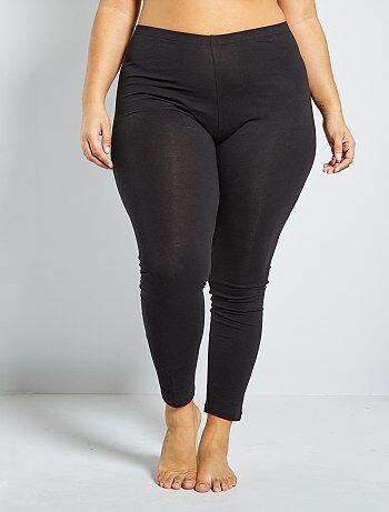 Legging largo de algodón                                                                     negro Tallas grandes mujer