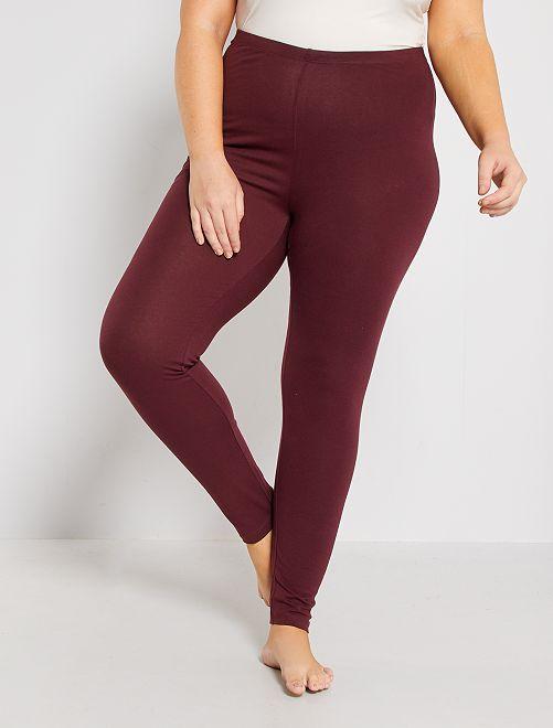 Legging largo de algodón                                                     rojo