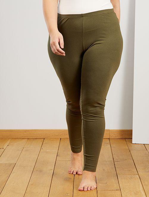 Legging largo de algodón                                                                 verde oscuro