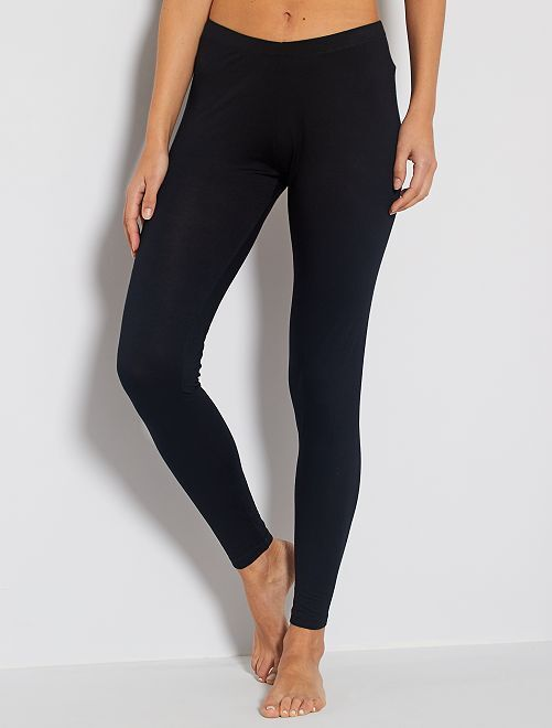 Legging largo elástico                             negro