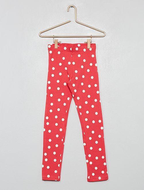Legging largo estampado                     rojo lunar Chica