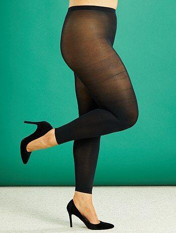 Tallas grandes mujer - Leggings ligeros 80D tallas grandes - Kiabi