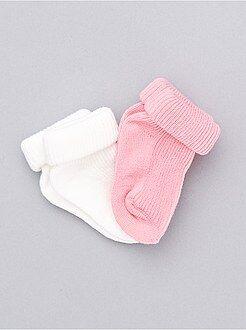 Niño 0-24 meses Lote de 2 pares de calcetines