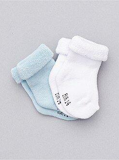 Niña 0-36 meses Lote de 2 pares de calcetines de punto de rizo