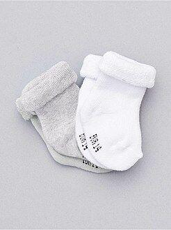 Niño 0-36 meses Lote de 2 pares de calcetines de punto de rizo