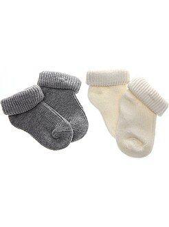 Niño 0-36 meses Lote de 2 pares de calcetines