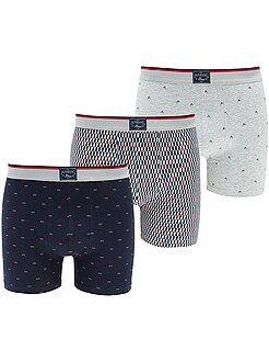 Bóxers estampados - Lote de 3 boxers corte largo